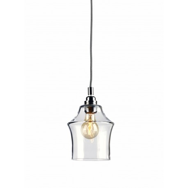 Longis II lampa wisząca (przewód biało-czarny)
