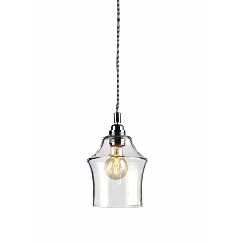 Longis II Pendant Lamp (white-black cable)