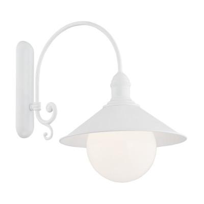 Ogrodowa zewnętrzna lampa ścienna kinkiet ERBA BIS biała IP44 Argon