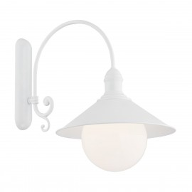 Outdoor garden wall lamp ERBA BIS white IP44 Argon