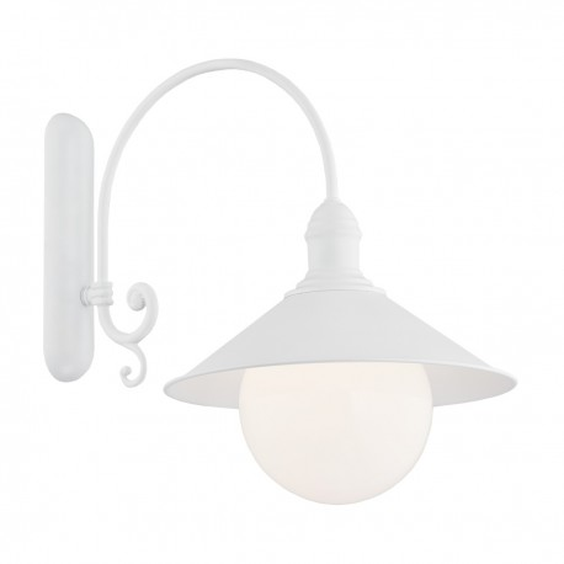 Outdoor garden wall lamp ERBA BIS white IP44 Argon