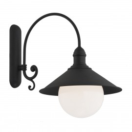 Outdoor garden wall lamp ERBA BIS black IP44 Argon