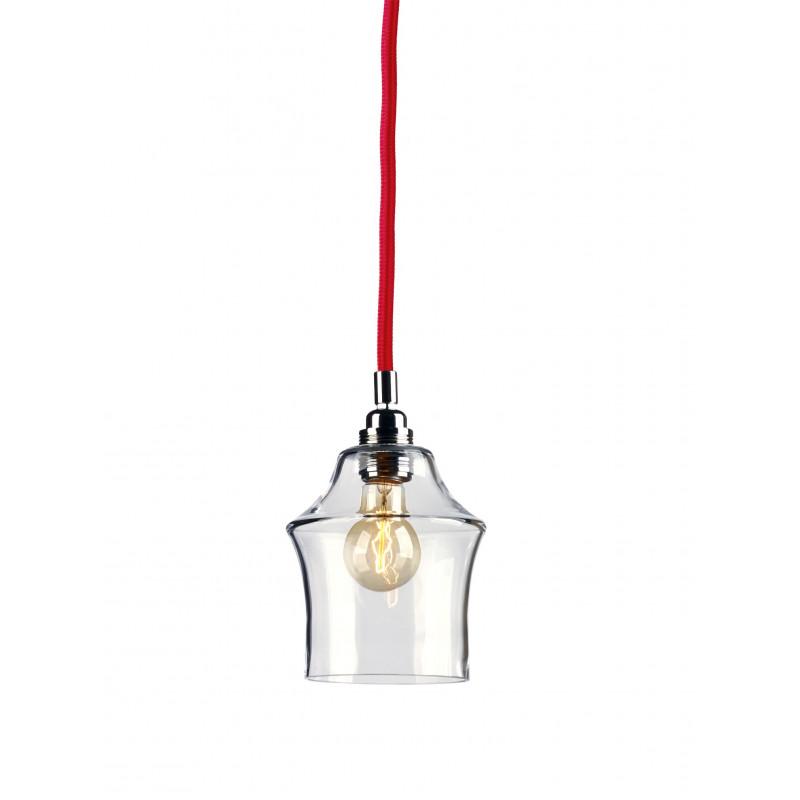 Longis II lampa wisząca (przewód czerwony)