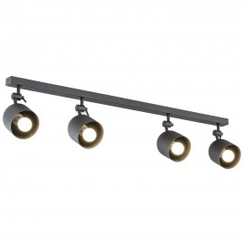 Ceiling lamp / wall lamp / spotlight ALABAMA 4 black ARGON