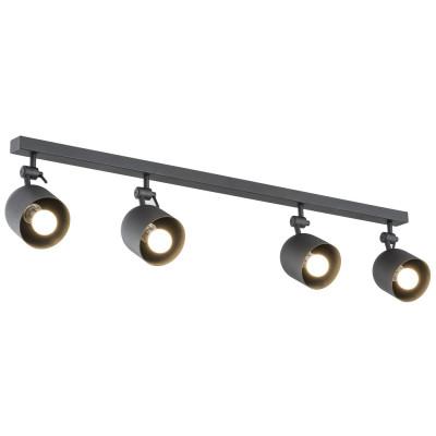 Lampa sufitowa / lampa ścienna / listwa reflektorów ALABAMA 4 czarna ARGON