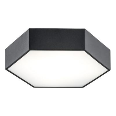 Duża lampa sufitowa / plafon ARIZONA 1 czarny ARGON
