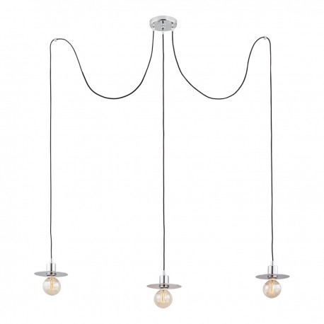 Pendant lamp spider type CORSO 3 chrome ARGON