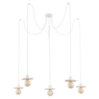 Pendant lamp spider type CORSO 3 white ARGON