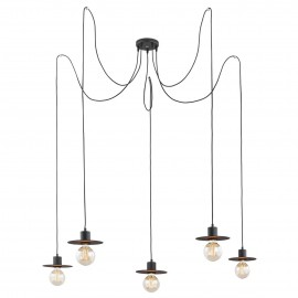 Pendant lamp spider type CORSO 3 black ARGON