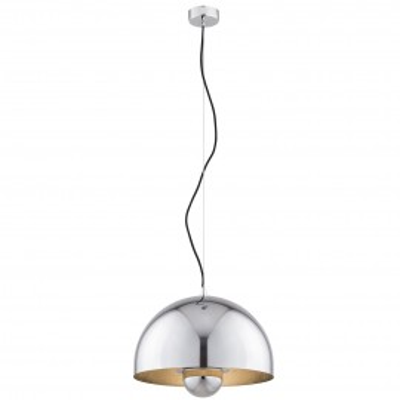 Lampa sufitowa / lampa wisząca LUIZJANA klosz chrom, wewnątrz miedź ARGON