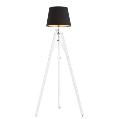 Lampa podłogowa, lampa stojąca ASTER czarny abażur, biała podstawa ARGON