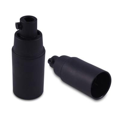 Oprawka plastikowa czarna E14