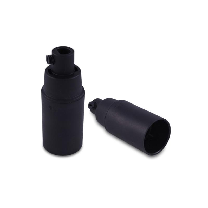 Plastic lamp holder black E14