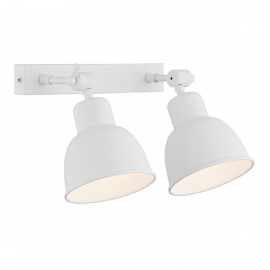 Wall lamp / sconce white double EUFRAT ARGON