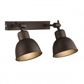 Wall lamp / sconce copper double EUFRAT ARGON