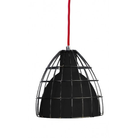 Frame L Pendant Lamp Black/Black/Red