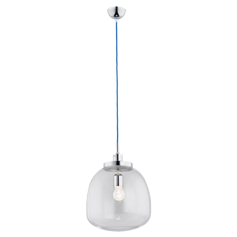 Ceiling lamp / pendant lamp transparent cord blue OPAWA ARGON