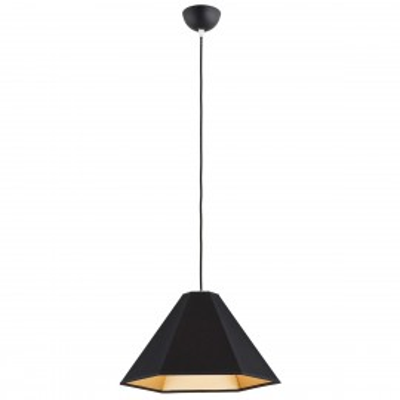 Ceiling lamp / hanging lamp SAVONA 3 black&gold ARGON