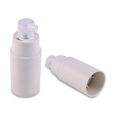 Plastic lamp holder white E14