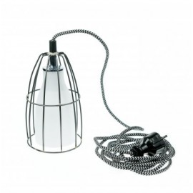 Frame luminaire with plug wall lamp steel / white /white-black