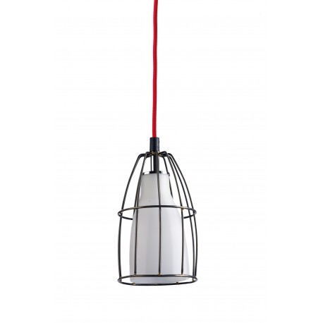 Frame S Pendant Lamp White/Steel/Red