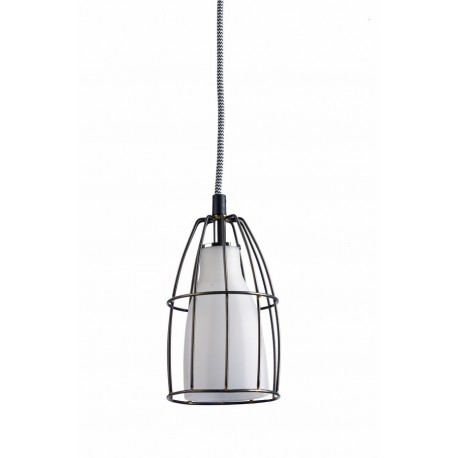 Frame S Pendant Lamp White/Steel/Black-White