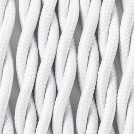 Twisted electric cable covered by polyster 16 white lilac 2x1x0.75