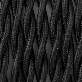 Twisted electric cable covered by polyster 15 black tulip 2x0.75