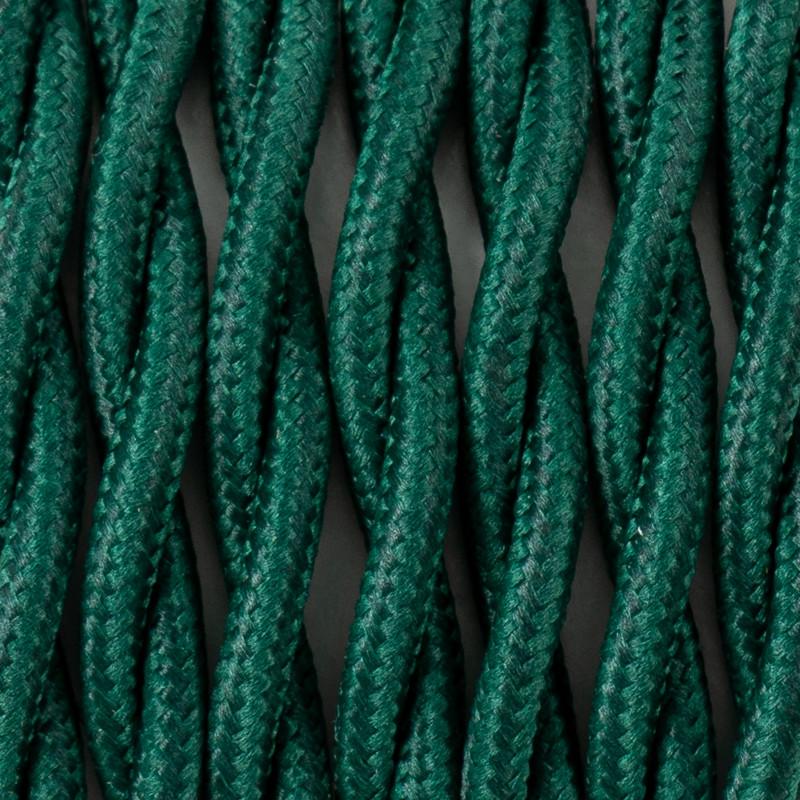 Kabel skręcany w oplocie poliestrowym 19 sosnowy las dwużyłowy 2x0.75 Kolorowe Kable
