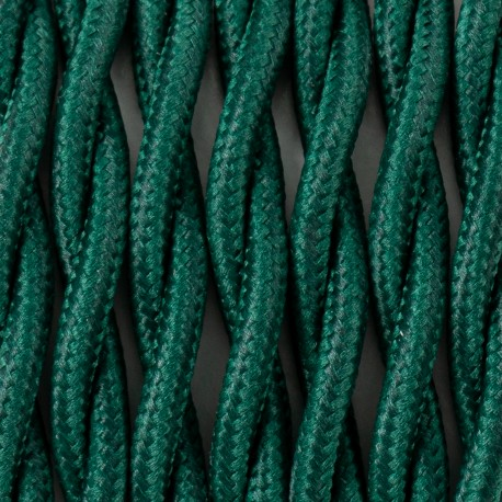 Twisted electric cable covered by polyster 19 pine forest 2x1x0.75