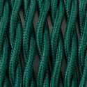 Twisted electric cable covered by polyster T06 pine forest 2x1x0.75