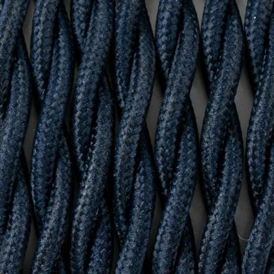 Kabel skręcany w oplocie poliestrowym 25 borówka amerykańska 2x0.75 Kolorowe Kable