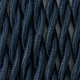 Twisted electric cable covered by polyster 25 blueberries 2x1x0.75