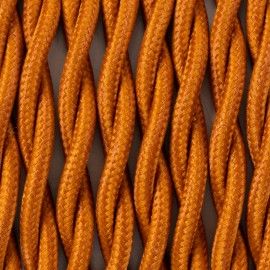 Twisted electric cable covered by polyster 33 copper bronze 2x1x0.75