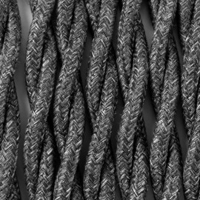 Kabel skręcany w oplocie poliestrowym P03 bazaltowy melanż dwużyłowy 2x1x0.75 Kolorowe Kable