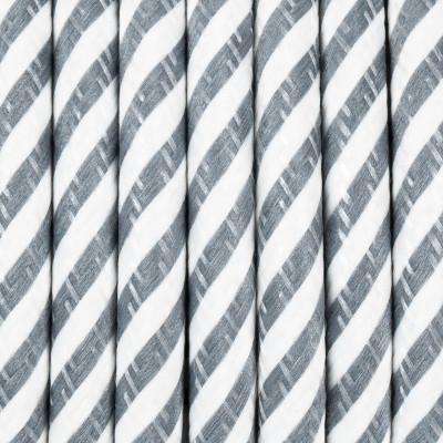 Kabel w oplocie poliestrowym 36 serpentyna wąska szaro-biała dwużyłowy 2x0.75 Kolorowe Kable