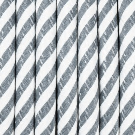 Round electric cable covered by polyester 36 narrow streamer grey and white 2x0.75