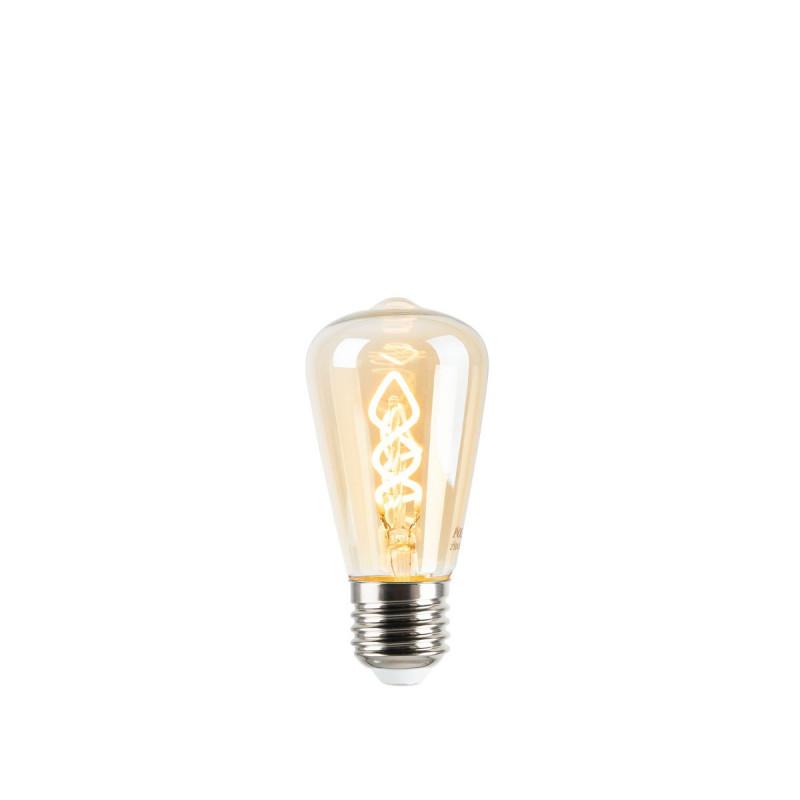 Decorative light bulb Filament LED ST45 4W Amber Glass Warm Light