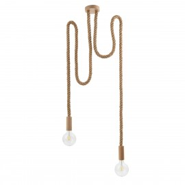 Loft Multi Eco Line B X2 double hanging lamp with hemp rope