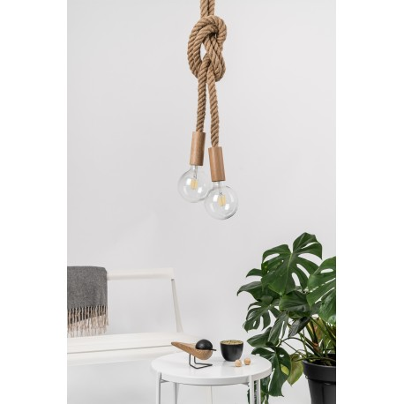Loft Multi Eco Line B X2 double hanging lamp with hemp rope