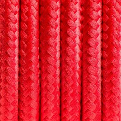 Kabel w oplocie poliestrowym 04 czerwone chilli dwużyłowy 2x0.75