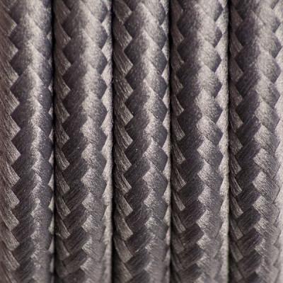 Kabel w oplocie poliestrowym 14 szlachetny antracyt dwużyłowy 2x0.75
