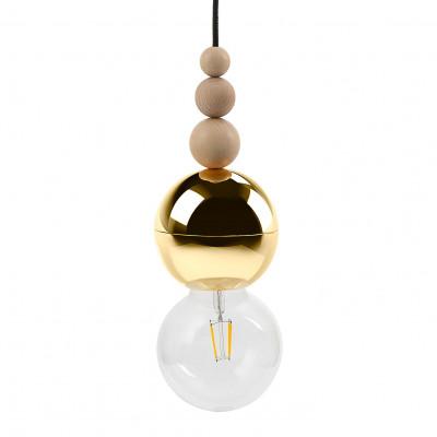 Loft Bala złota lampa wisząca KOLOROWE KABLE
