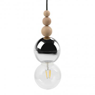Loft Bala chromowana lampa wisząca KOLOROWE KABLE