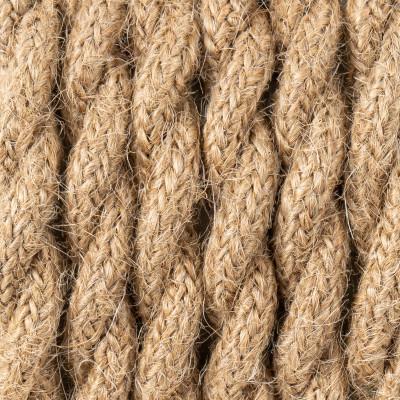 Kabel skręcany w oplocie jutowym naturalnym J02 dwużyłowy 2x1x0.75 Kolorowe Kable