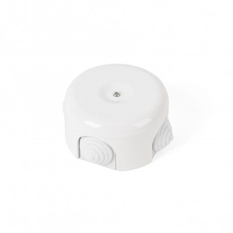Rustic ceramic junction box surface mounted in a retro style - white Kolorowe Kable