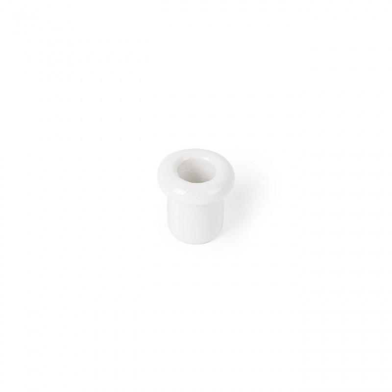 Rustic ceramic retro culvert - white Kolorowe Kable