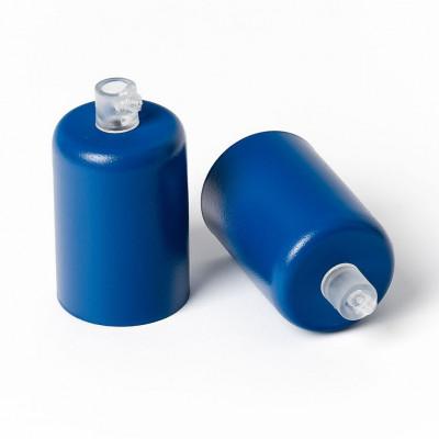 Oprawka metalowa E27 lakierowana w kolorze ciemnoniebieskim strukturalnym Kolorowe Kable