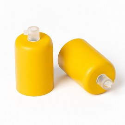 Oprawka metalowa E27 lakierowana w kolorze żółtym strukturalnym Kolorowe Kable
