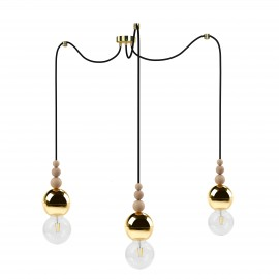 Loft Bala 3 gold pendant lamp